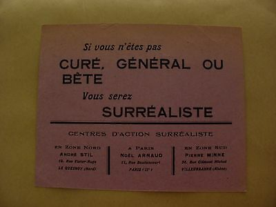 Surrealism Noel Arnaud 1943 Carte Centres D'action Surrealiste France