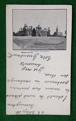 Framlingham    College    Court Card    Suffolk     Vintage Postcard