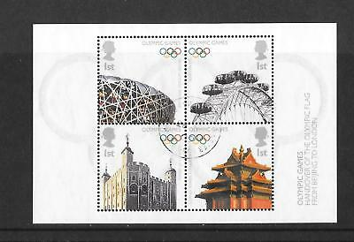 2008 Olympic Games GB Miniature Sheet - used