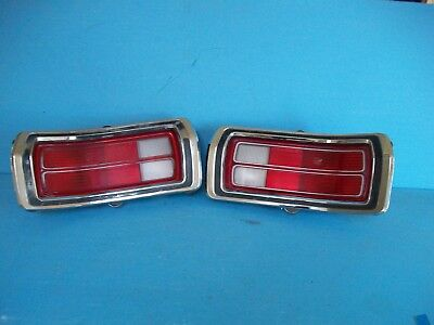 1973 74 75 76 PLYMOUTH DUSTER RH LH TAILLIGHTS HOUSING and BEZELS