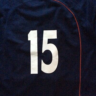 England Player Issue Under 20 Rugby Shirt Navy Blue No 15 Size XL