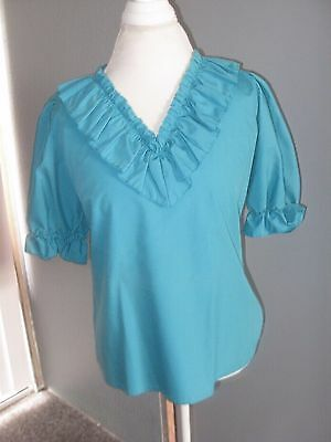 Lot 2 Women's Tops square dance country Yellow Turquoise GUC free shipping