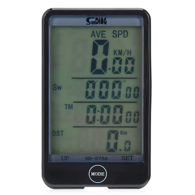 SD-576A LCD Touch Wired Bicycle Computer Speedometer Auto Light Line Control