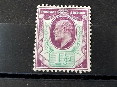 Gb Stamps King Edward Vii Sg 224 1 1/2D Slate Purple And Bluish Green M/mint