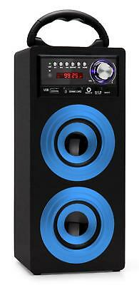 Tragbare Bluetooth Lautsprecher Box Stereo Anlage Usb Sd Mp3 Player Radio Blau