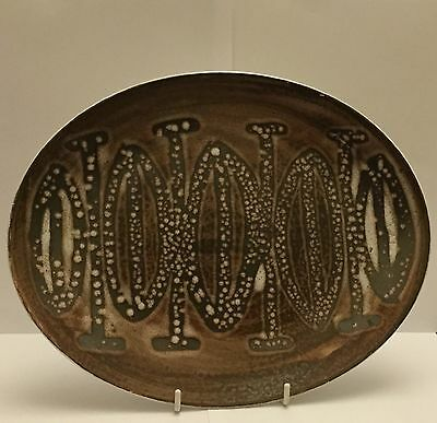CInque Ports Pottery THE MONASTERY RYE  Oval Platter/Plate c1960