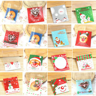 25pcs CHRISTMAS CELLO BAGS - Xmas Cellophane Gift Party Loot Treat  Sweets