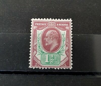 Gb Stamps King Edward Vii Sg 287 1 1/2D Reddish Purple And Bright Green M/mint