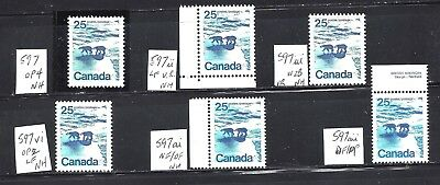 Canada ALL DIFFERENT, LANDSCAPE DEFINITIVES SCOTT 597 MNH (BS9040-10)