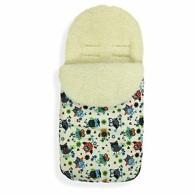 FOOTMUFF Natural WOOL LINING PUSHCHAIR BUGGY STROLLER BABY COSY TOES  P121