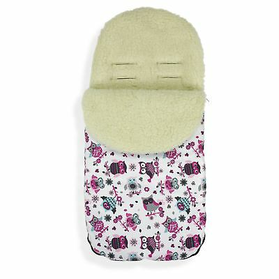FOOTMUFF Natural WOOL LINING PUSHCHAIR BUGGY STROLLER BABY COSY TOES  P133