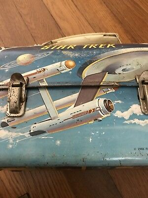 Vintage Rare '60's Star Trek Dome Metal Lunchbox Aladdin TV Scifi