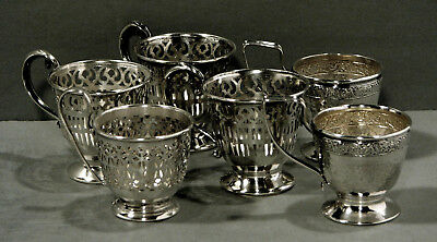 Gorham Sterling Tea Set       * Assorted Demitasse Cup Frames *    (6)