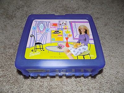 2001 Plastic Lunchbox With Thermos Barbie