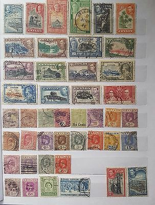 Nice collection  of 44 diff. rare used stamps of CEYLON in  Central Asia
