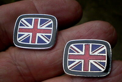 Pair Of 1960/70s MOD Union Jack Enamelled Cuff Links