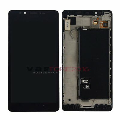 For Nokia Lumia 950 Black LCD Screen Touch Digitizer Display Assembly Frame+Tool