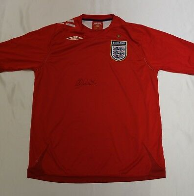 Michael Owen Hand Signed England Football Shirt & COA