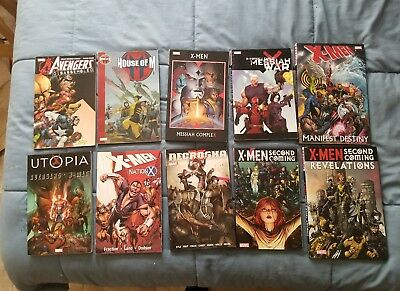 X-Men TPB Marvel comics, large lot of 10