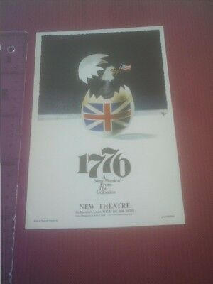 Theater program/ publicity 1776 New Musical from the Colonies