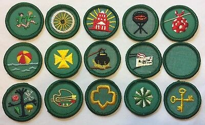 Lot Of 15 Girl Scout Badges