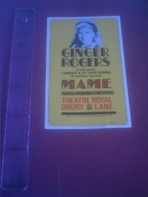Theater program/ publicity  Ginger Rogers Theatre Royal