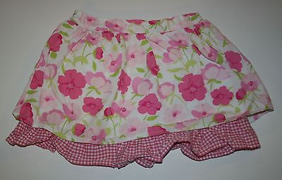 Used Gymboree Outlet Fun Floral Check Trimmed Skirt Girls Size 5T EUC Girls