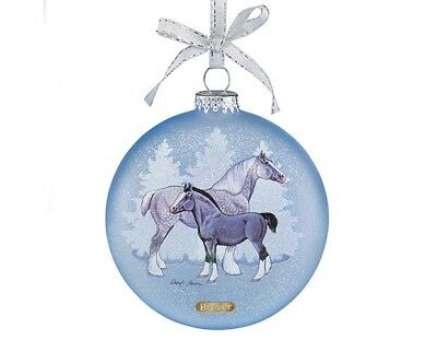 Breyer Holiday 2017 Artist Signature Ornament -  DRAFT HORSES Christmas NIB