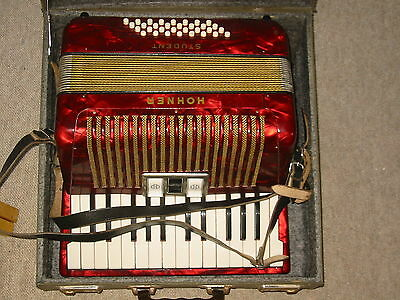 Nice used Hohner Student  accordion fisarmonica