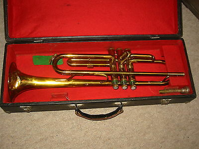 "Used European trumpet, in bb ""Amati Kraslice"" Crashed bell"