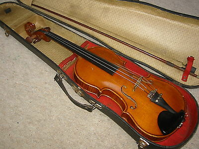 "nice & old 3/4 Violin   violon ""Stainer"" branding"" nicely flamed!"