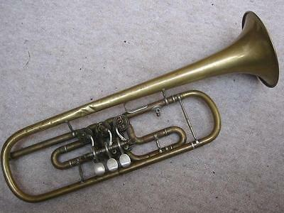 old rotary Bb trumpet  needscleaning and service