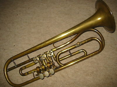 Very old rotary  trumpet  in F (?)  Needs service