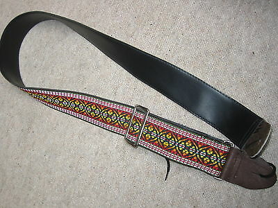 Nice, colorful vintage guitar  strap