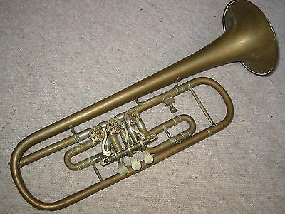 old rotary Bb trumpet