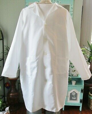 "Best Medical L/S Men Lab Coat Button 3 Pocket 42"" Length White Sizes XS - 2X"