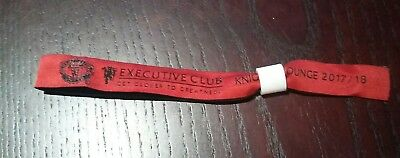 Manchester United FC Executive Club Red Knights Lounge 2017/18 Wristband RARE
