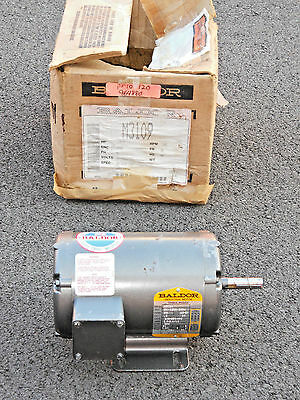 NOS Baldor M3109 Three Phase ½ HP Electric Motor 1140 RPM 208-230/460V