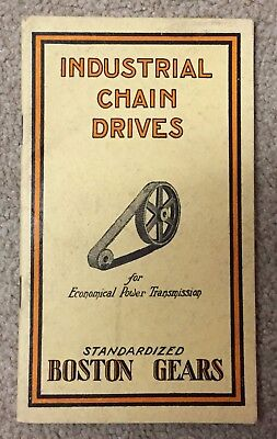 Vintage 1926 Boston Gears Industrial Chain Drives Catalog 36 Pages