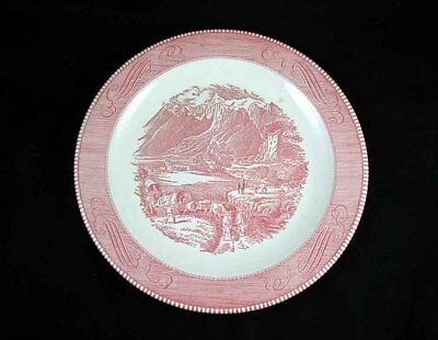Royal China- CURRIER & IVES Pink Chop Plate/ Round Platter- 11 1/4 inch- SCARCE!