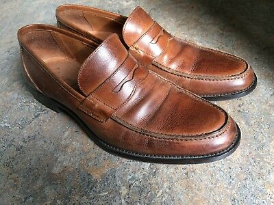 IGI & CO italian leather brown  loafers mens dress  shoes sz 43