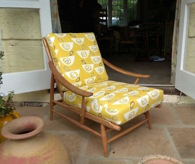 Vintage Ercol Chair 442 Bergere 1960's