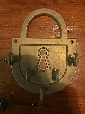 Vintage Brass Key Holder Rack Retro