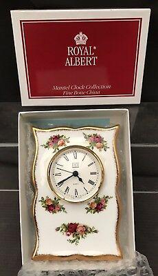 ROYAL ALBERT OLD COUNTRY ROSE  Mantle Clock 18 Cm Boxed