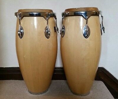 Performance Percussion  Wooden Congas ,Natural Finish