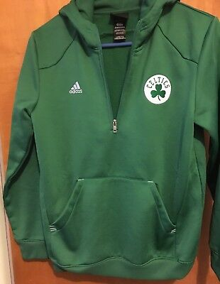 Boston Celtics Adidas Stitched 1/2 Zip Hoodie Pullover (Youth Large) Basketball