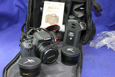 Canon Eos T5i Rebel Eos 700D Digital SLR Camer with Std 50mm + Macro,Tele, Extra