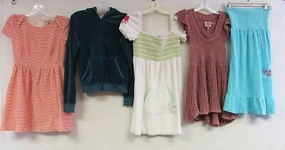 Lot of 5 Juicy Couture Dresses Jacket Velour Terrycloth Nautical Floral Small