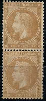 TIMBRE FRANCE Type NAPOLÉON PAIRE Verticale n°28B  NEUF*