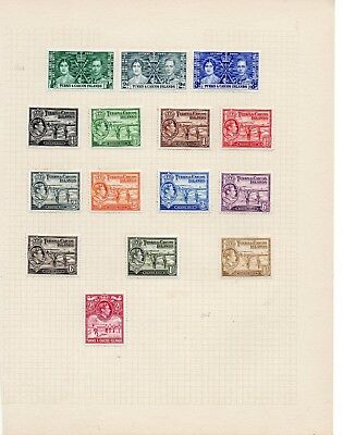 Turks & Caicos Islands 1937-1949 George Vi Collection To 2/- Inc Upu Blocks Mint